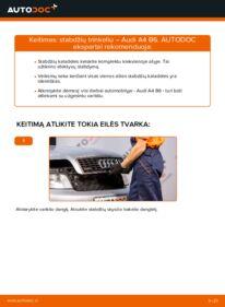 Kaip atlikti keitimą: 1.9 TDI Audi A4 b6 Stabdžių Kaladėlės