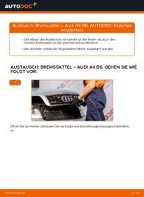 Wie der Wechsel durchführt wird: Bremssattel Audi A4 b6 1.9 TDI 2.0 2.5 TDI quattro tauschen