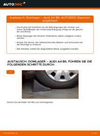Wie der Wechsel durchführt wird: Domlager 1.9 TDI Audi A4 b6 tauschen
