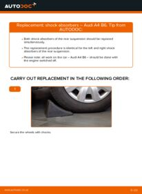How to carry out replacement: Shock Absorber on 1.9 TDI Audi A4 b6