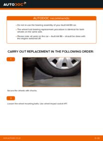 How to carry out replacement: Wheel Bearing on 1.9 TDI Audi A4 b6