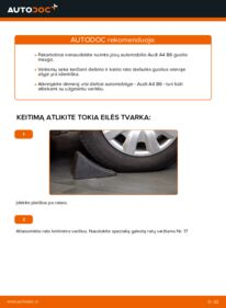 Kaip atlikti keitimą: 1.9 TDI Audi A4 b6 Rato guolis