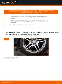 Kaip atlikti keitimą: E 220 CDI 2.2 (211.006) Mercedes W211 Pasukimo trauklė