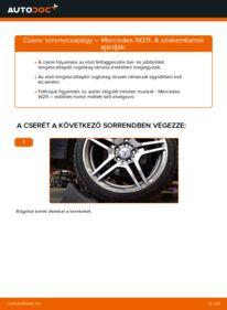 Hogyan végezze a cserét: E 220 CDI 2.2 (211.006) Mercedes W211 Toronycsapágy