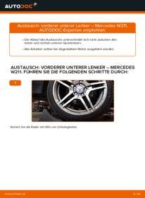 Wie der Wechsel durchführt wird: Querlenker E 220 CDI 2.2 (211.006) Mercedes W211 tauschen