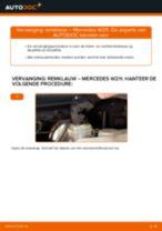 Ruitenwisser Mechaniek veranderen MERCEDES-BENZ E-CLASS: werkplaatshandboek