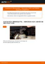 Bremssattel hinten selber wechseln: Mercedes W211 - Austauschanleitung