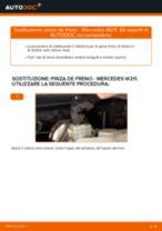 Sostituzione Pinze freno MERCEDES-BENZ E-CLASS: pdf gratuito