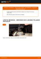 Byta bromsok bak på Mercedes W211 – utbytesguide