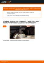 Príručka o výmene Brzdový strmeň v MERCEDES-BENZ Trieda E vlastnými rukami