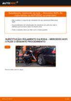 Como mudar rolamento da roda da parte traseira em Mercedes W211 - guia de substituição