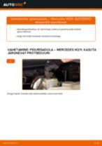 MERCEDES-BENZ tagumine ja eesmine Pidurisadul vahetamine DIY - online käsiraamatute pdf