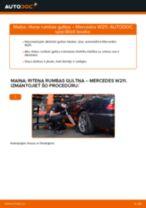 Mercedes S210 instrukcijas par remontu un apkopi