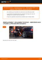 Comment changer : roulement de roue arrière sur Mercedes W211 - Guide de remplacement