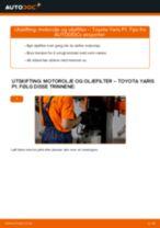 Gratis instruksjoner på nett for bytte Oljefilter TOYOTA YARIS (SCP1_, NLP1_, NCP1_)