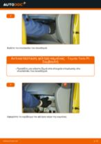 Οι συστάσεις του μηχανικού αυτοκινήτου για την αντικατάσταση TOYOTA Toyota Yaris p1 1.4 D-4D (NLP10_) Αμορτισέρ Πορτ Μπαγκαζ