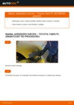 Tiešsaistes bezmaksas instrukcijas kā mainīties Aizdedzes svece TOYOTA YARIS (SCP1_, NLP1_, NCP1_)