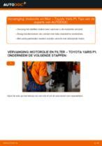 Hoe Oliefilter motor vervangen en installeren TOYOTA YARIS: pdf tutorial