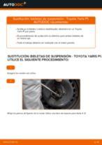 Cambio Travesaños barras estabilizador delantera y trasera TOYOTA YARIS: tutorial en línea