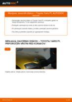 Avtomehanična priporočil za zamenjavo TOYOTA Toyota Yaris p1 1.4 D-4D (NLP10_) Garnitura zavorne celjusti
