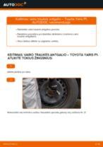 Automechanikų rekomendacijos TOYOTA Toyota Yaris p1 1.4 D-4D (NLP10_) Pasukimo trauklė keitimui