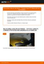 Manual de bricolaj pentru substituir Disc frana in TOYOTA YARIS