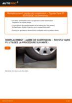 Comment changer : jambe de suspension avant sur Toyota Yaris P1 - Guide de remplacement