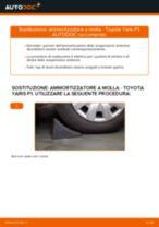 Come cambiare ammortizzatore a molla della parte anteriore su Toyota Yaris P1 - Guida alla sostituzione