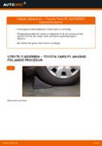 Byta fjäderben fram på Toyota Yaris P1 – utbytesguide
