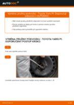 Jak vyměnit přední pružiny podvozku na Toyota Yaris P1 – návod k výměně