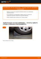 Como mudar kit de suspensão da parte dianteira em Toyota Yaris P1 - guia de substituição