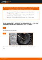 Comment changer : ressort de suspension avant sur Toyota Yaris P1 - Guide de remplacement