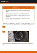Manuel en ligne pour changer vous-même de Durite de frein sur TOYOTA YARIS (SCP1_, NLP1_, NCP1_)