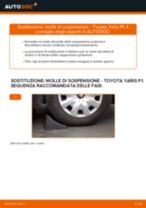 Come cambiare molle di sospensione della parte posteriore su Toyota Yaris P1 - Guida alla sostituzione