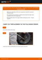 TOYOTA YARIS (SCP1_, NLP1_, NCP1_) change Springs front left right: guide pdf