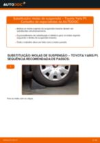 Como mudar molas de suspensão da parte traseira em Toyota Yaris P1 - guia de substituição