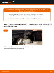 Wie der Wechsel durchführt wird: Bremssattel E 220 CDI 2.2 (211.006) Mercedes W211 tauschen