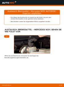Wie der Austausch bewerkstelligt wird: Bremssattel beim MERCEDES-BENZ E-CLASS