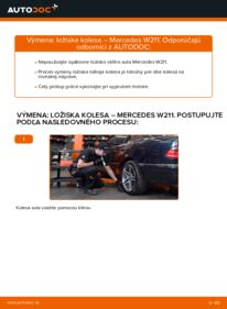 Ako vykonať výmenu: Lozisko kolesa na E 220 CDI 2.2 (211.006) Mercedes W211
