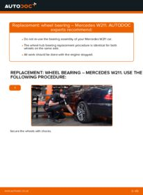 How to carry out replacement: Wheel Bearing on E 220 CDI 2.2 (211.006) Mercedes W211