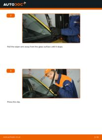 How to carry out replacement: Wiper Blades on 1.0 (SCP10_) Toyota Yaris p1