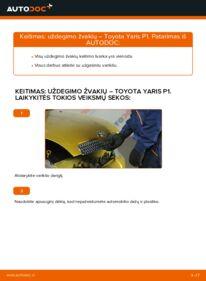Kaip atlikti keitimą: 1.0 (SCP10_) Toyota Yaris p1 Uždegimo žvakė