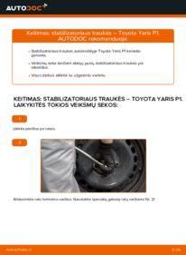 Kaip atlikti keitimą: 1.0 (SCP10_) Toyota Yaris p1 Pasukimo trauklė