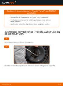 Wie der Wechsel durchführt wird: Koppelstange 1.0 (SCP10_) Toyota Yaris p1 tauschen