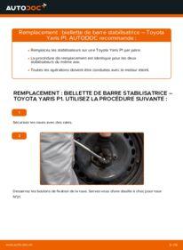 Comment effectuer un remplacement de Biellette De Barre Stabilisatrice sur 1.0 (SCP10_) Toyota Yaris I