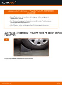 Wie der Wechsel durchführt wird: Stoßdämpfer 1.0 (SCP10_) Toyota Yaris p1 tauschen