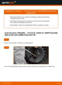 Wie der Wechsel durchführt wird: Federn 1.0 (SCP10_) Toyota Yaris p1 tauschen