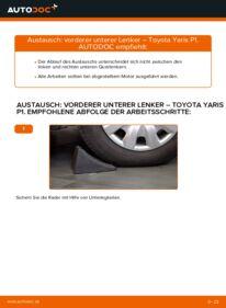 Wie der Wechsel durchführt wird: Querlenker 1.0 (SCP10_) Toyota Yaris p1 tauschen