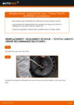 Comment changer : roulement de roue avant sur Toyota Yaris P1 - Guide de remplacement
