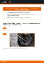 Kuinka vaihtaa pyöränlaakerit taakse Toyota Yaris P1-autoon – vaihto-ohje